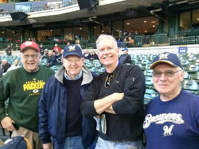 old guys at baseball game